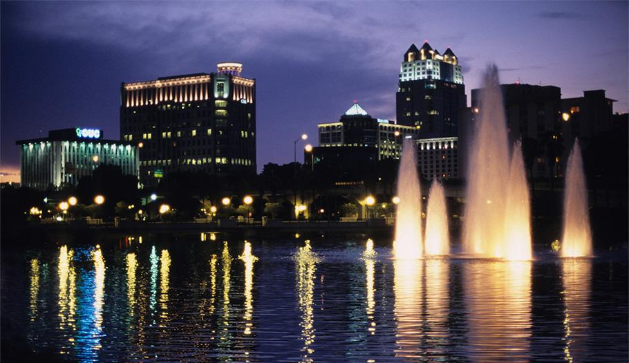 Orlando skyline at night
