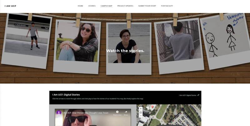 Screenshot of I am UCF website page